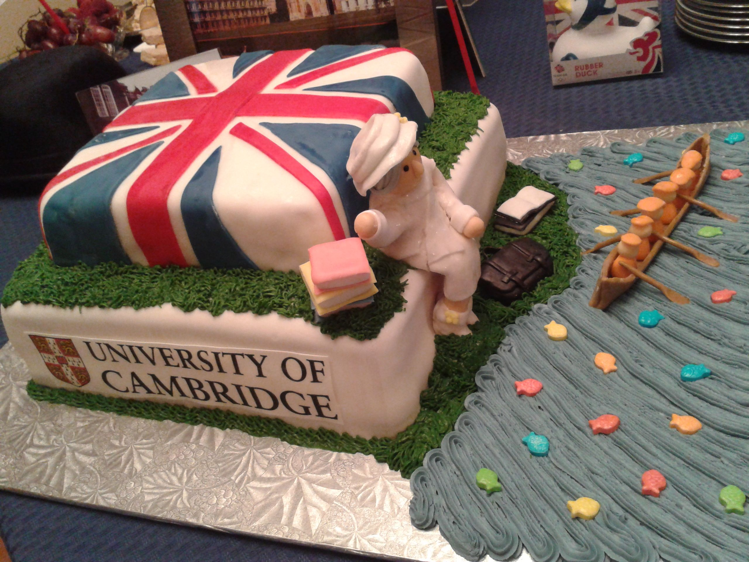 Uk Cake Complete With One Of The Buildings From The