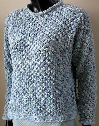 Cotton Chenille Textured Sweatshirt - free knit pattern from Crystal ...