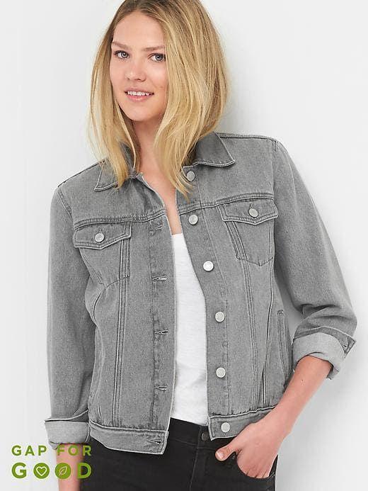 087963d4eea86 Gap Womens Denim Icon Jacket Washed Grey Size XXL | Products ...