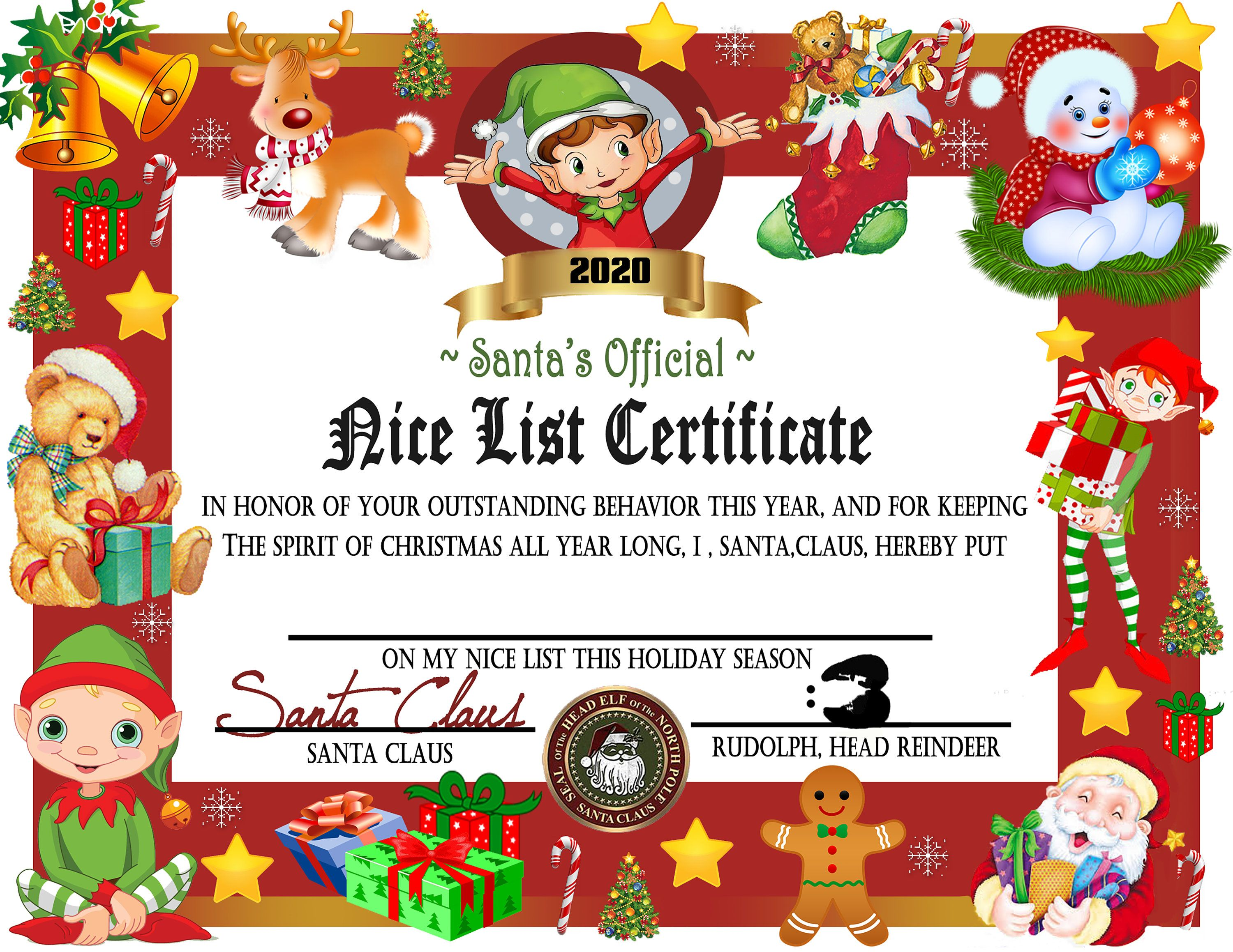 Addition To My Etsy Shop Printable Nice List Certificate Instant Download Nice List Letter Ch Nice List Certificate Christmas Lettering Santa S Nice List Free printable nice list certificate