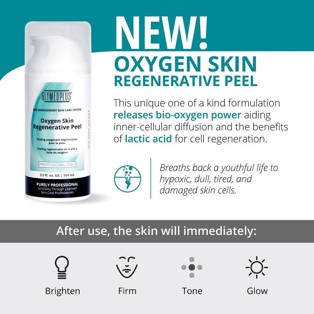 The New Oxygen Skin Regenerative Peel By Glymed Plus Will Be Available Monday March 11th Learn All About This One Of A K Cell Regeneration Damaged Skin Skin