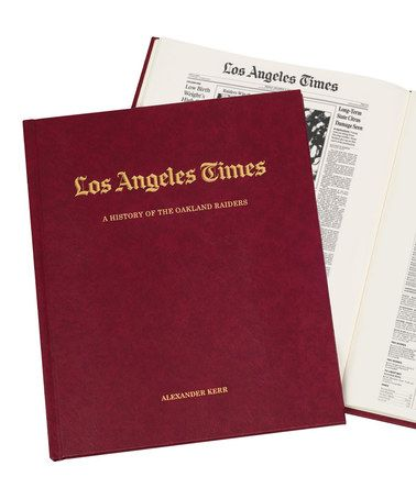 Another great find on #zulily! <i>Los Angeles Times</i> Oakland Raiders Personalized Hardcover #zulilyfinds