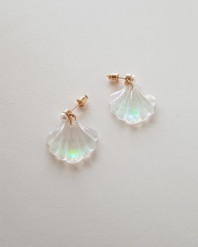 Photo of Pearl and Opalite Shell Dangle Earriings –  #dangle #earriings #opalite #pearl #shell