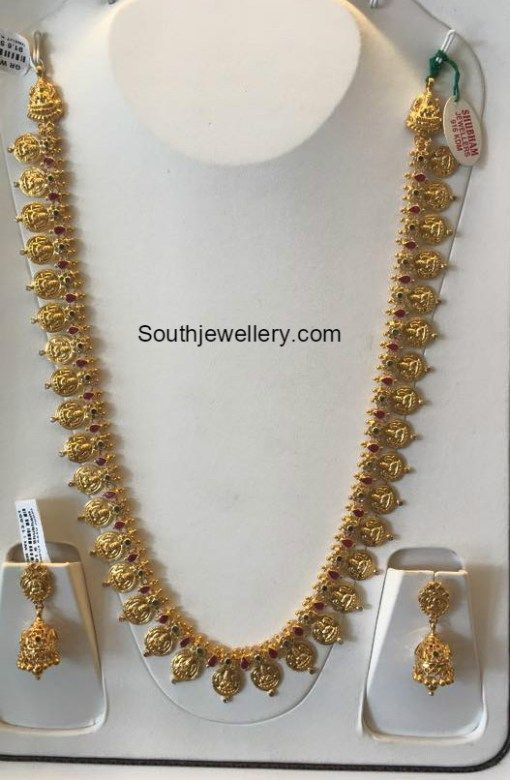 ea0b5f5f05803 50 grams weight kasu haram | Gold in 2019 | Jewelry, Light weight ...