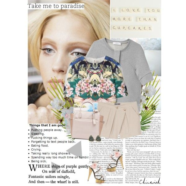 I never made promises lightly And there have been some that I've broken But I swear in the days still left We'll walk in the fields of gold by hug-voldemort on Polyvore featuring мода, STELLA McCARTNEY, Chalayan, McQ by Alexander McQueen, Charlotte Olympia, Reed Krakoff, Prada, Chicwish, top handle bags and high-waisted shorts