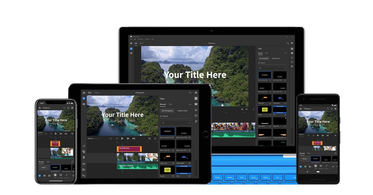 Adobe launches premiere rush cc a videoediting app made