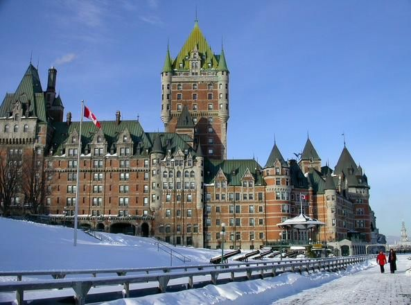Gaetanchevalier Photo Net Winter Scenes Quebec City Hotel Architecture