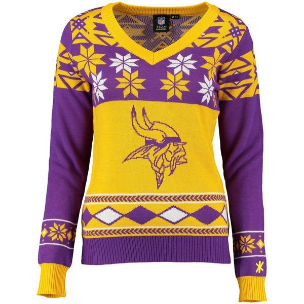 finest selection 32543 10885 Women's Minnesota Vikings NFL Klew Purple/Gold Big Logo V ...