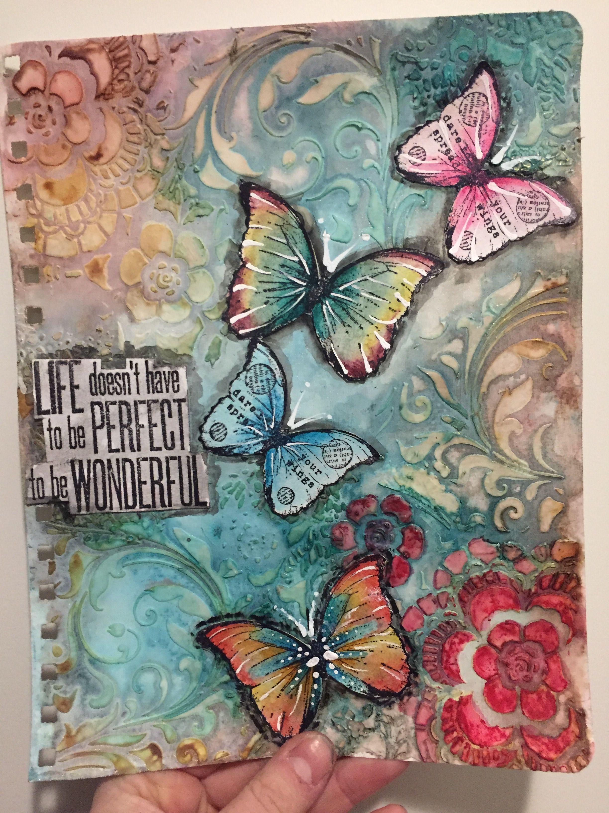 Pin von Catherine Bryan auf Art journaling | Pinterest | Leinwand ...