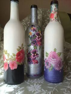 how to fabric decoupage wine bottle Google Search