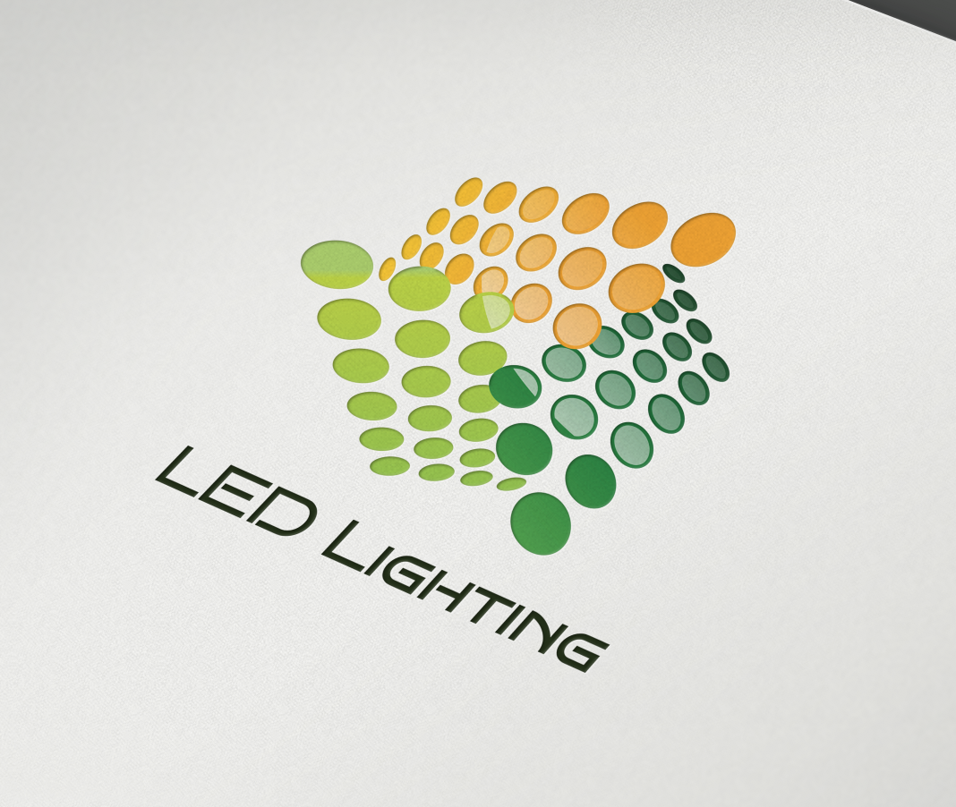 This Logo Is Ideal For Led Lighting Stores, Green Energy Companies,