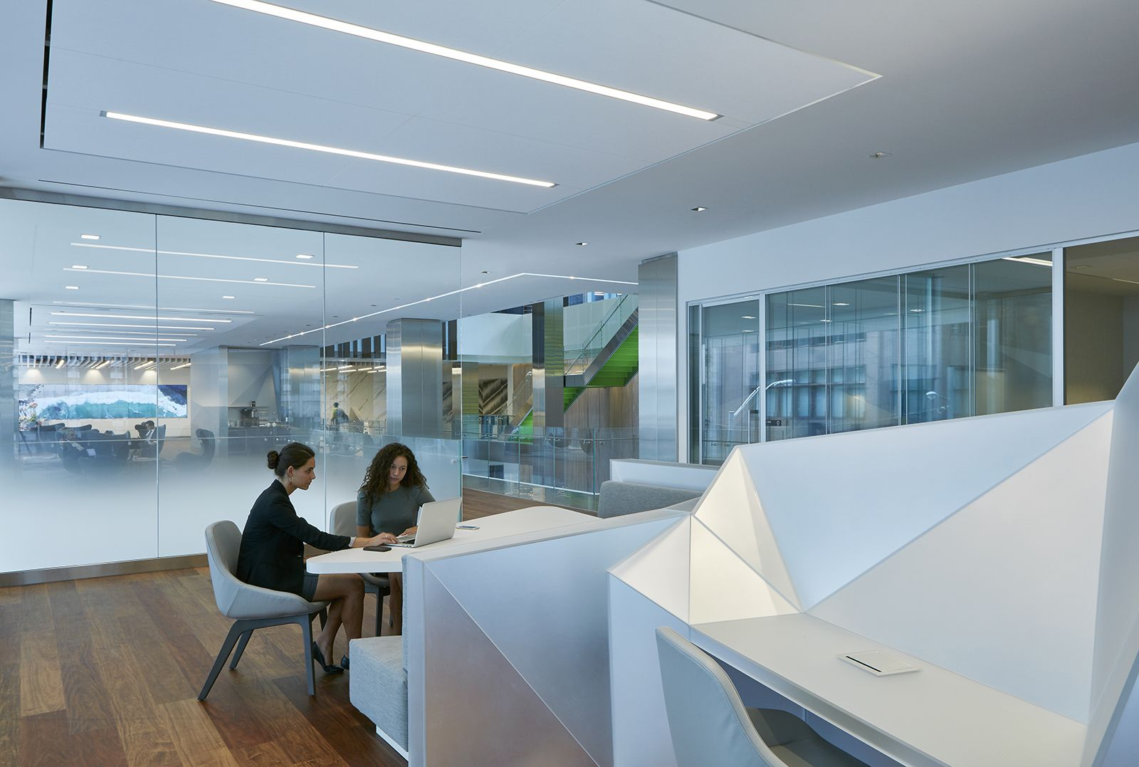 Design inspiration for the office of the future - Deloitte's Toronto Office is what a workplace should look like. Interior Designer: AFK - Collaborative Area, Office, Work