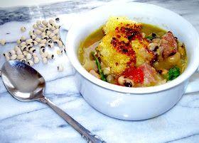 The Bluebird Patch (Happiness Blog): Test Kitchen: Hugh Acheson Field Peas, Ham Hock & Mustard Green Soup