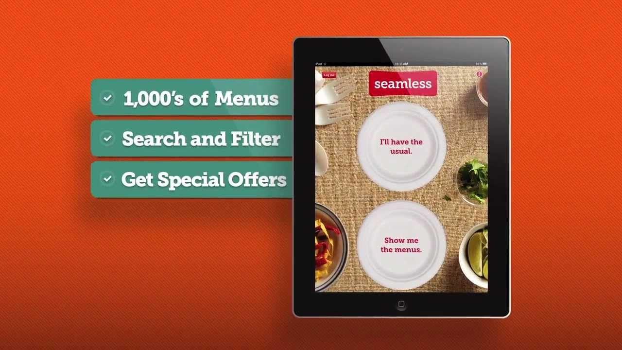 Ipad Restaurant Food Delivery App Order Food Online With Seamless For Ipad Food Delivery App Online Food Food Delivery