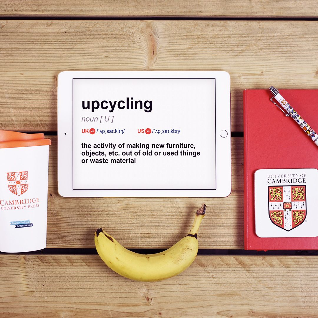 Upcycling is the activity of making new furniture, objects, etc. out of old or used things or waste material. Have you ever upcycled something? 🔨👖#CambridgeWOTD