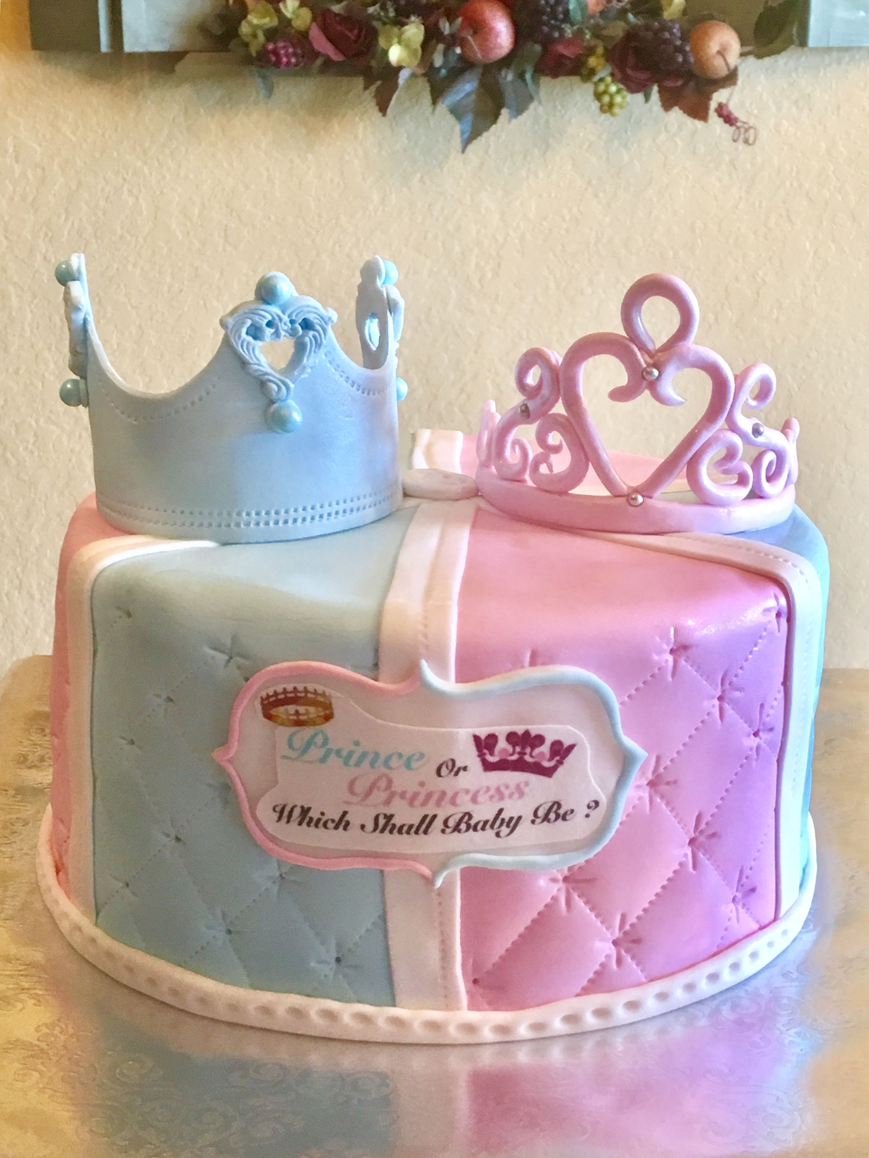 Gender Reveal Baby Shower Cake With Images Baby Shower