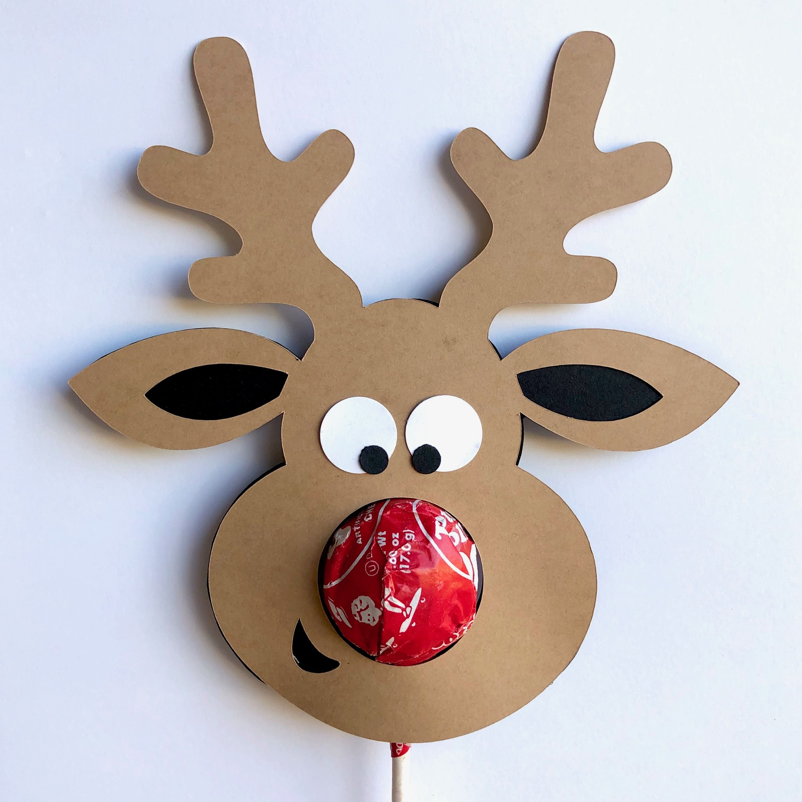 Reindeer Lollipop Svg Free