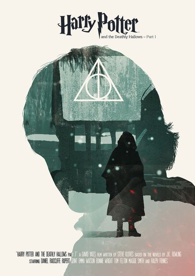 Harry Potter 7 1 Movie Poster Art Print Harry Potter Poster Harry Potter Movie Posters Deathly Hallows Part 1