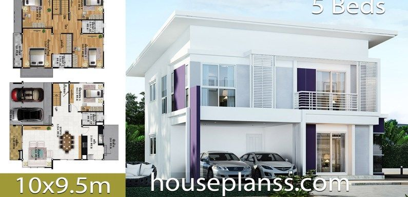 House Design Plans Idea 10x9 5 With 5 Bedrooms Home Ideassearch House Construction Plan Model House Plan 5 Bedroom House Plans