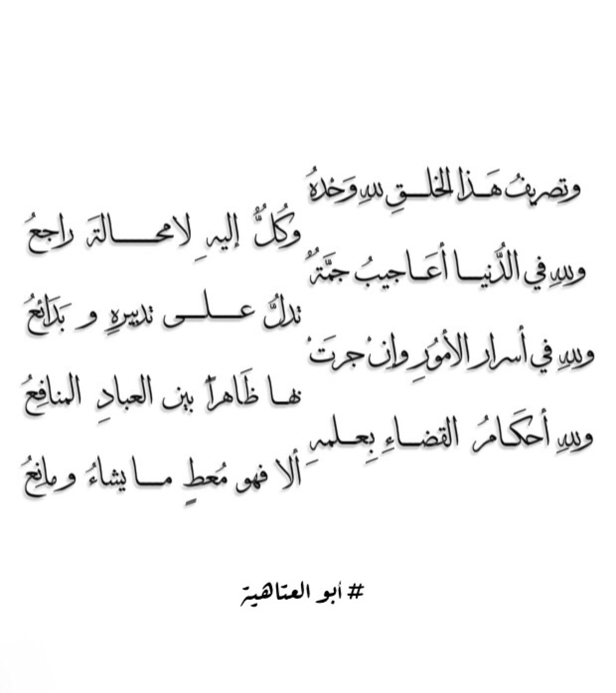 أبو العتاهية أدب اقتباس Quotes شعر Math Quotes Arabic Calligraphy
