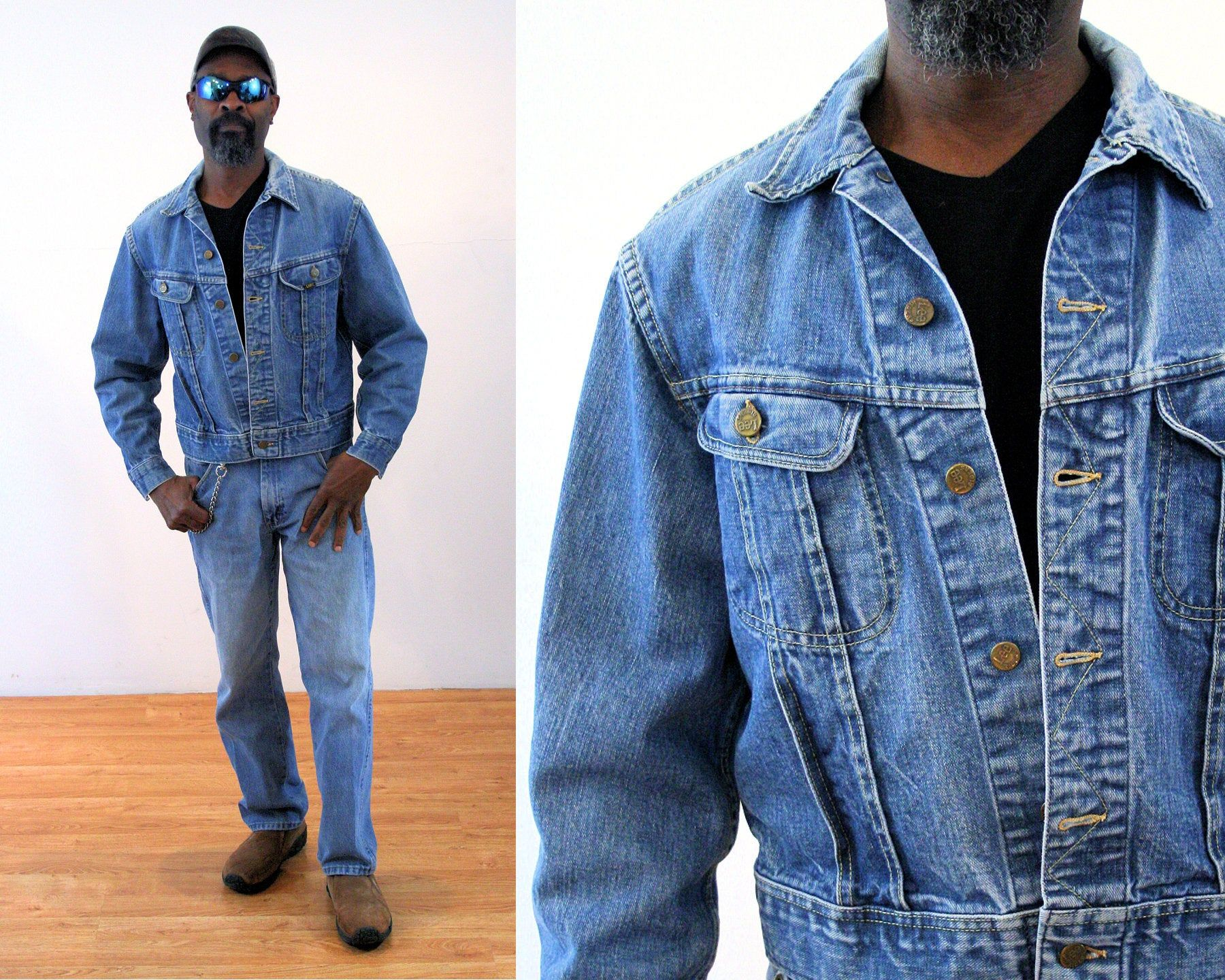 70s Lee Denim Jacket M Vintage Blue Jean Truckers Sanforized Etsy Lee Denim Jacket Denim Jacket Men Jean Jacket Men [ 1440 x 1800 Pixel ]