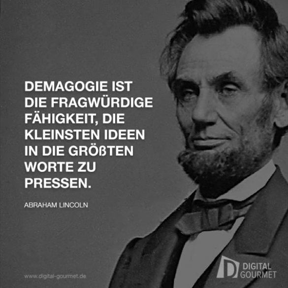 lincoln-demagogie | Zitate von albert einstein, Albert ...