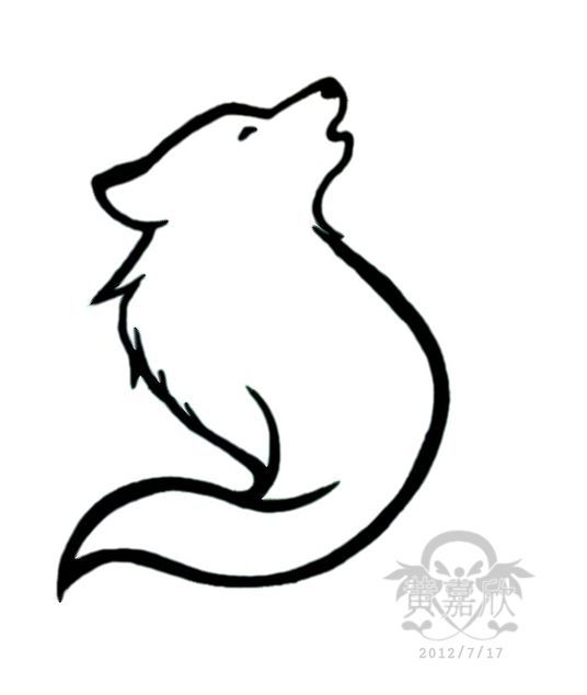 Wolf Tattoo On Pinterest Wolf Tattoos Tribal Wolf Tattoos And Small Wolf Drawing Easy Simple Wolf Tattoo Wolf Drawing