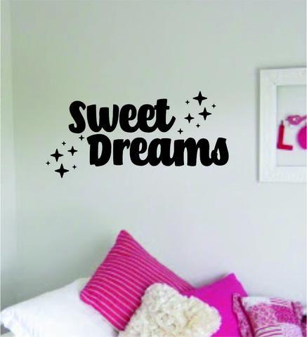 Sweet Dreams V2 Quote Wall Decal Sticker Vinyl Art Bedroom Decor Baby Nursery Playroom Kids Stars Son Daugher