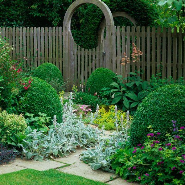 Roundup Garten: Garten Zaun Holz Bretter Kunst Rund Strauch