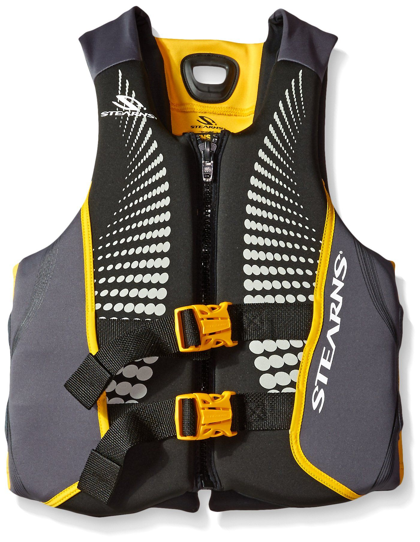 Stearns Mens V1 Series Hydroprene Life Jacket Gold Small