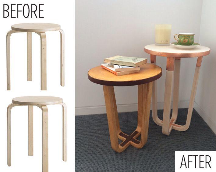 ikea frosta stool as side table clever ikea hack ikea hacks pinterest wohnideen. Black Bedroom Furniture Sets. Home Design Ideas