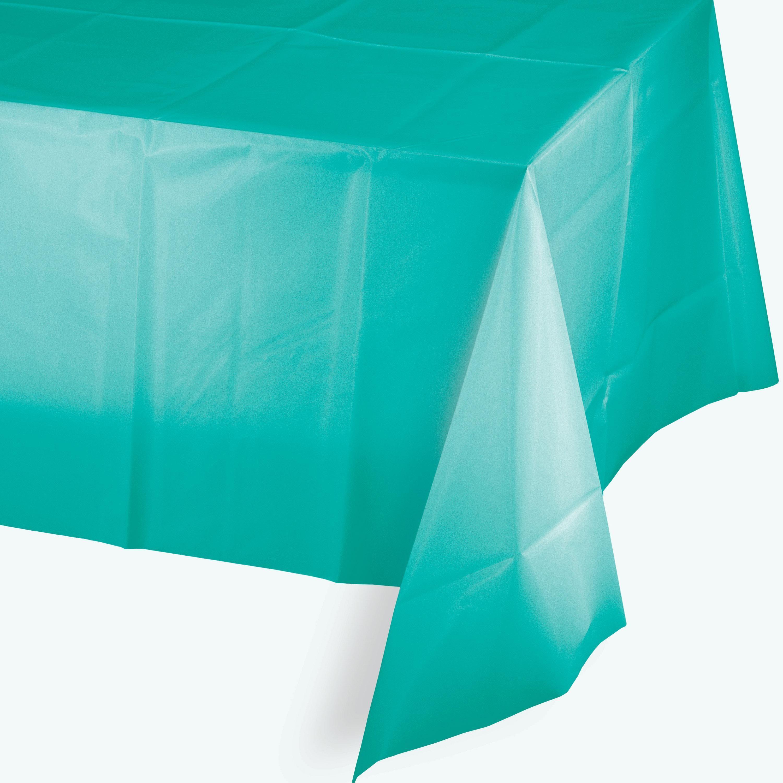 Teal Lagoon Tablecover Plastic 54u0027u0027 X 108u0027u0027 ...