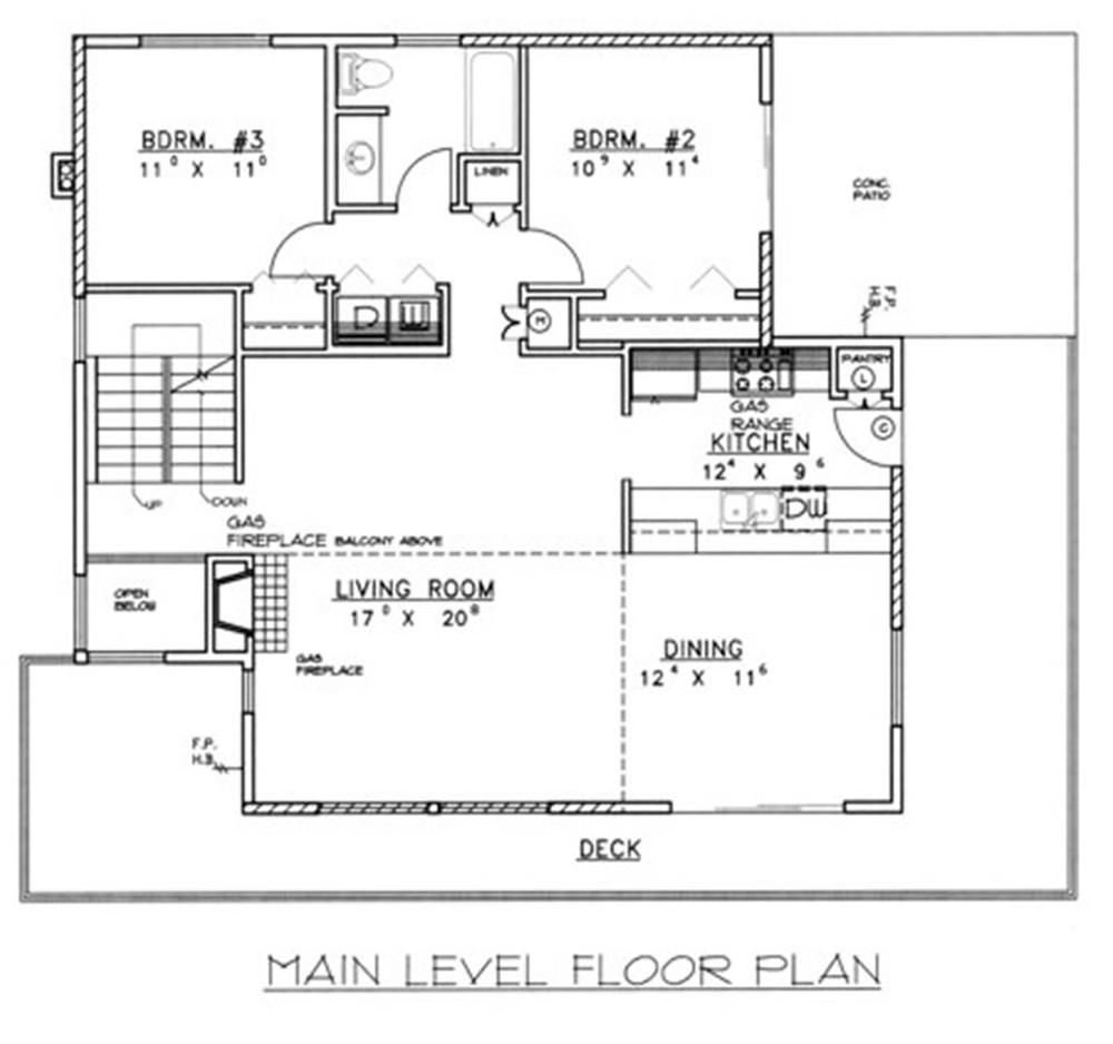 Plano principal casa moderna 2 planos de viviendas for Planos de viviendas modernas