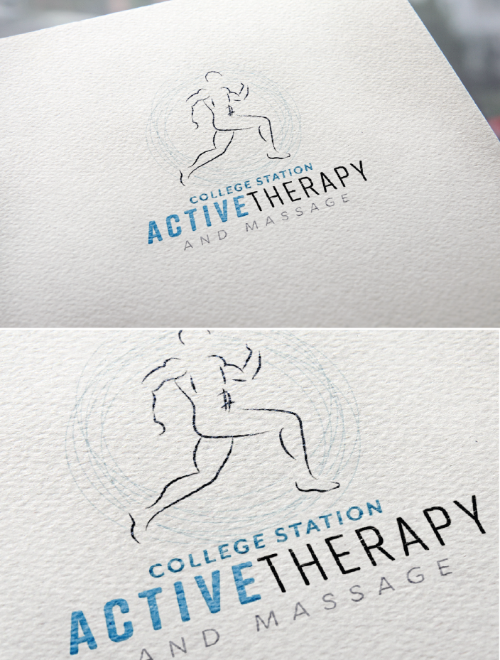 physical therapy logo and identity branding women small