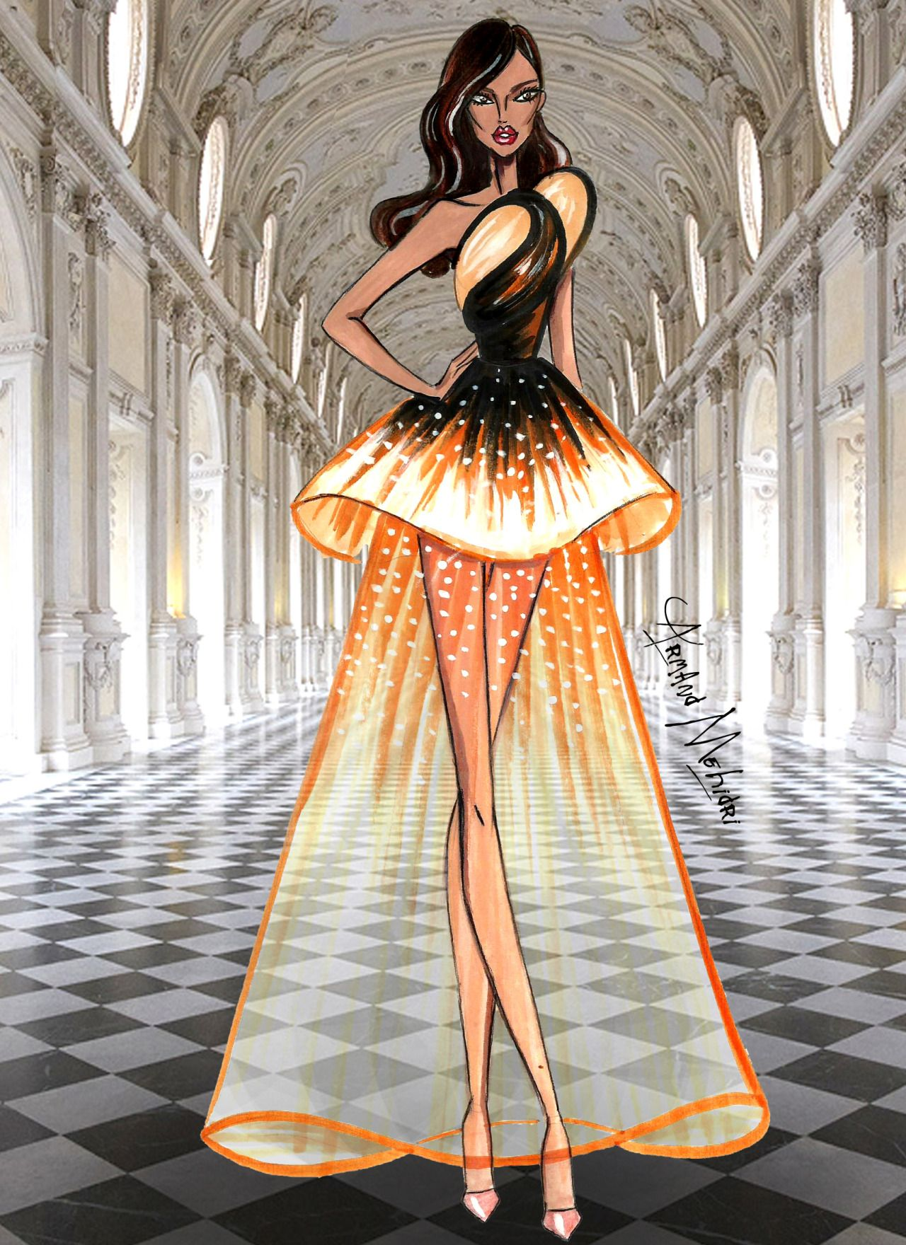 FASHION ILLUSTRATIONS by ARMAND MEHIDRI. — Haute Couture by Armand Mehidri…
