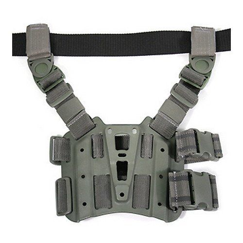 Tactical Holster Platform, Black - Keep your firearm close at hand with the Blackhawk tactical holster platform
