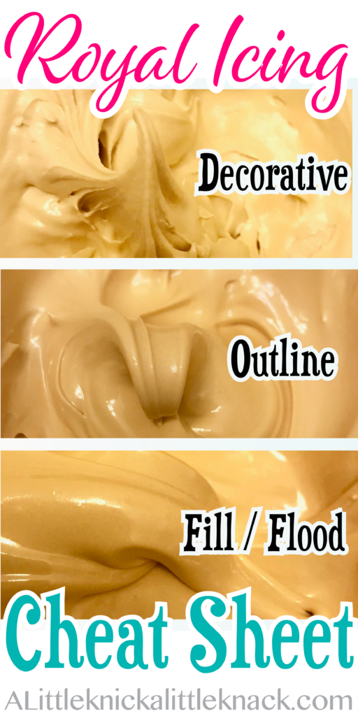 Preparing Royal Icing For Use: Creating Flood, Outline, and Decorate consistencies. - A Little Knick a Little Knack