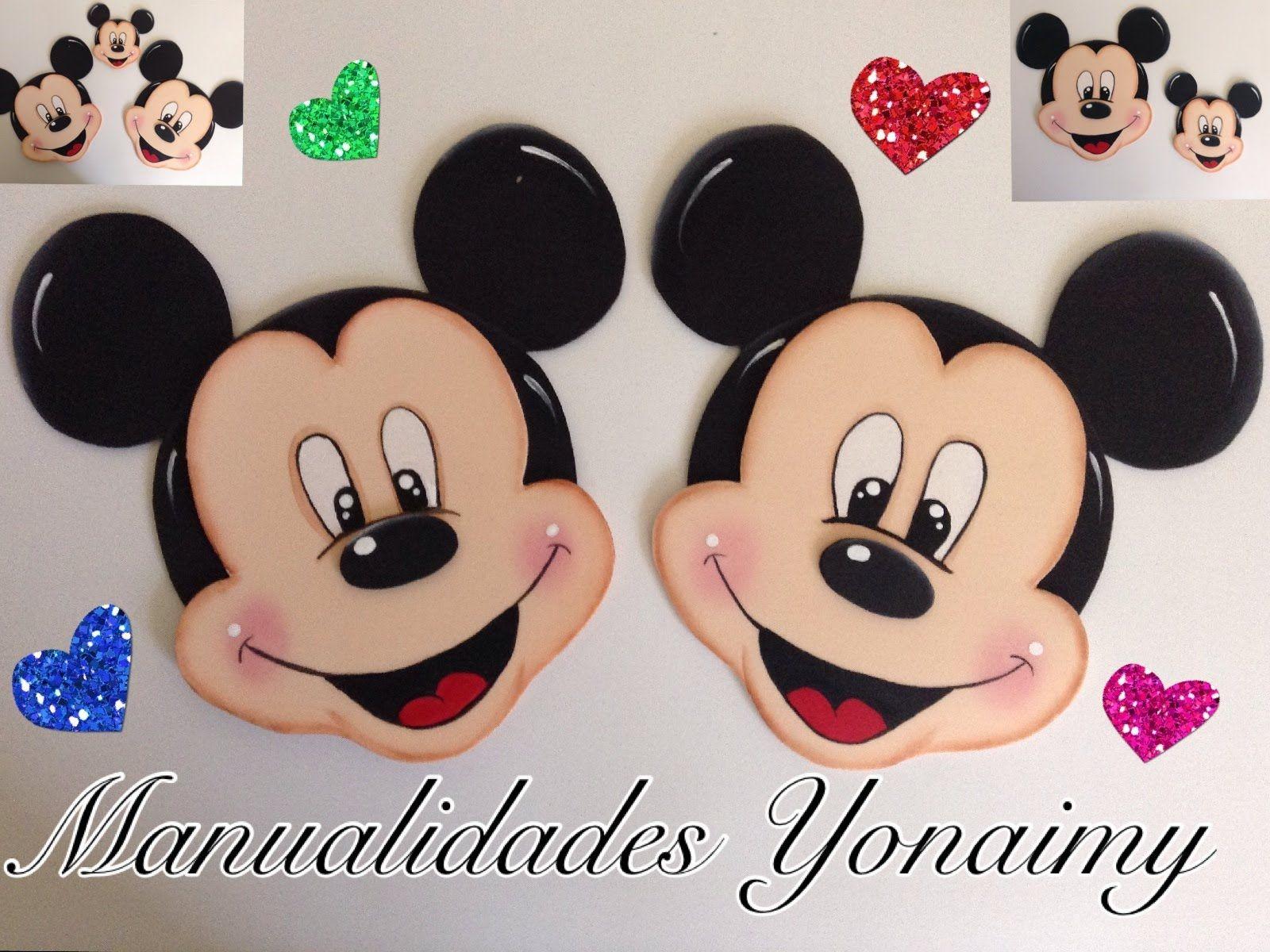 Mickey mouse hecho con foamy o goma eva foam flowers - Manualidades minnie mouse ...