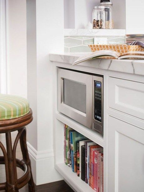 disappearing microwaves clean countertops kitchen remodel home kitchens on kitchen organization microwave id=43822