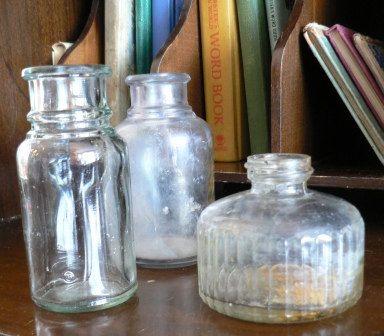 Vintage Office 3 Great Glass Ink Bottles Inkwell Desk Ink Jar Pot Ink Well Vintage Set Of 3 Ink Vintage Office Vintage Retro Desk