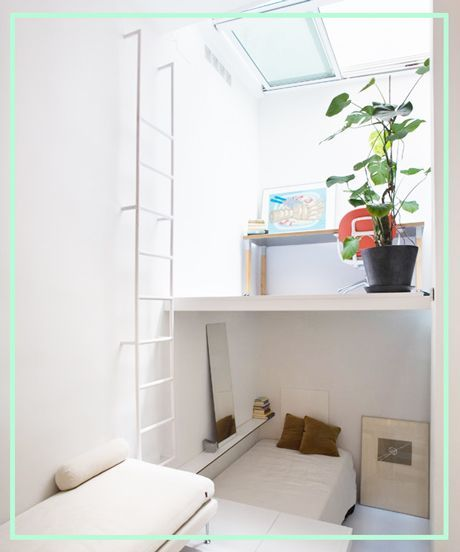 Living In A Shoebox - 8 Rooms In 215 Square Feet   Living In A Shoebox shows an architecture office that has eight rooms in 215 square feet. #refinery29 http://www.refinery29.com/living-in-a-shoebox/24