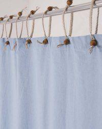 This Hemp Shower Curtain Powder Blue
