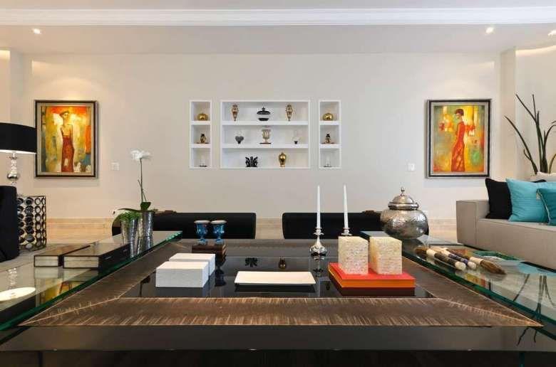 Composizioni quadri alle pareti | Soggiorno moderno ...