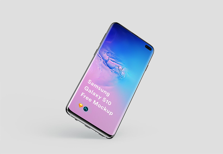 Free Samsung Galaxy S10 Plus Mockup Free Mockup In 2020 Android Mockup Samsung Galaxy Android Mockup Psd