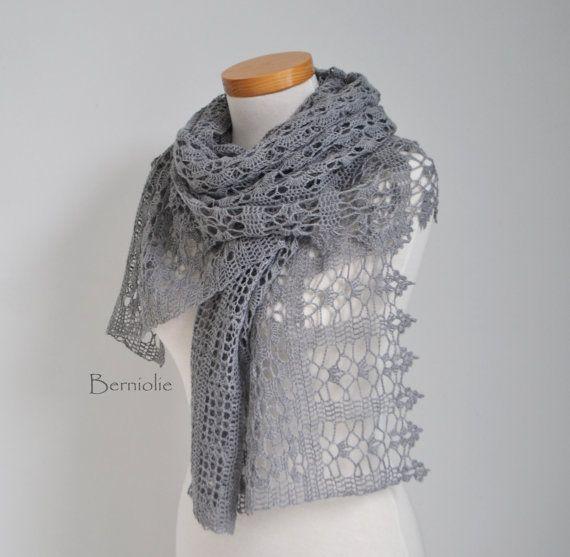 GRACE Crochet Schal Häkelanleitung pdf von BernioliesDesigns ...