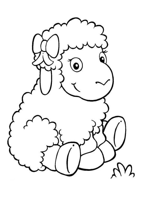 Sheep Adorable Baby Sheep Coloring Page Sheep Drawing Coloring Pages Animal Coloring Pages