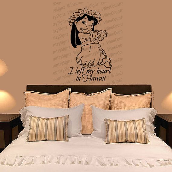 Lilo And Stitch Disney Ohana I Left My Heart In Hawaii Hibiscus - Custom vinyl decals hawaii