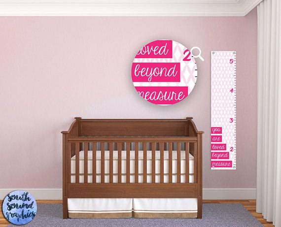 Growth Chart For Girls Kids Room Loved Beyond Measure Wall Decor