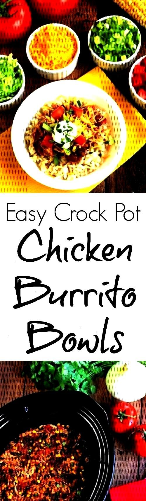 Burrito Bowls - Two Healthy Kitchens -Easy Crock-Pot Chicken Burrito Bowls - Two Healthy Kitchens -