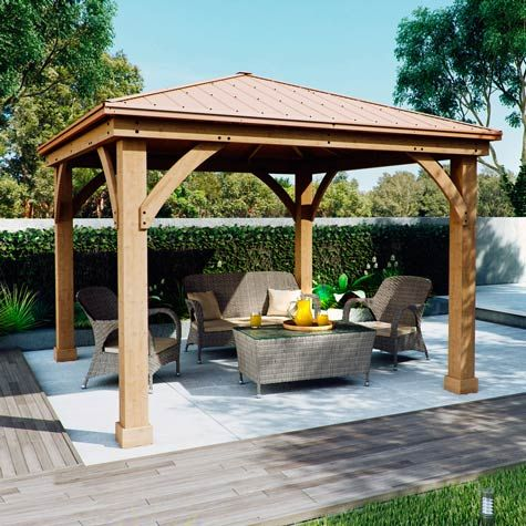 Solowave 12ft X 12ft 3 6 X 3 6m Cedar Pergola With Peaked